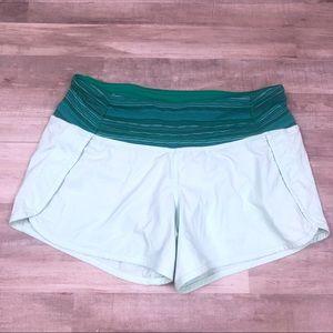 Lululemon Mint Green Running Shorts